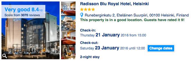 Booking Location Score