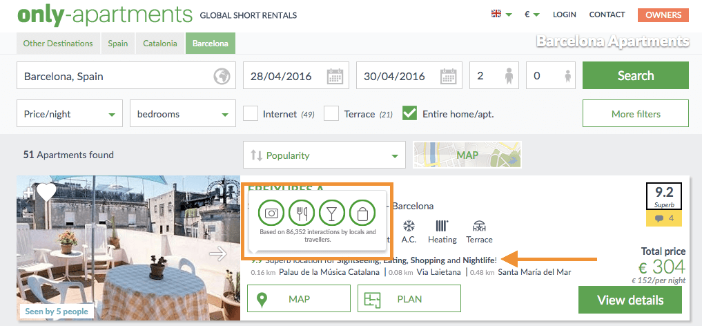 TopPlace Location Score Element