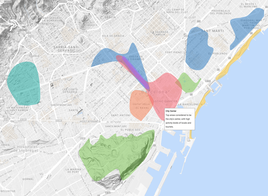 Top Areas - Barcelona - Social Neighborhoods