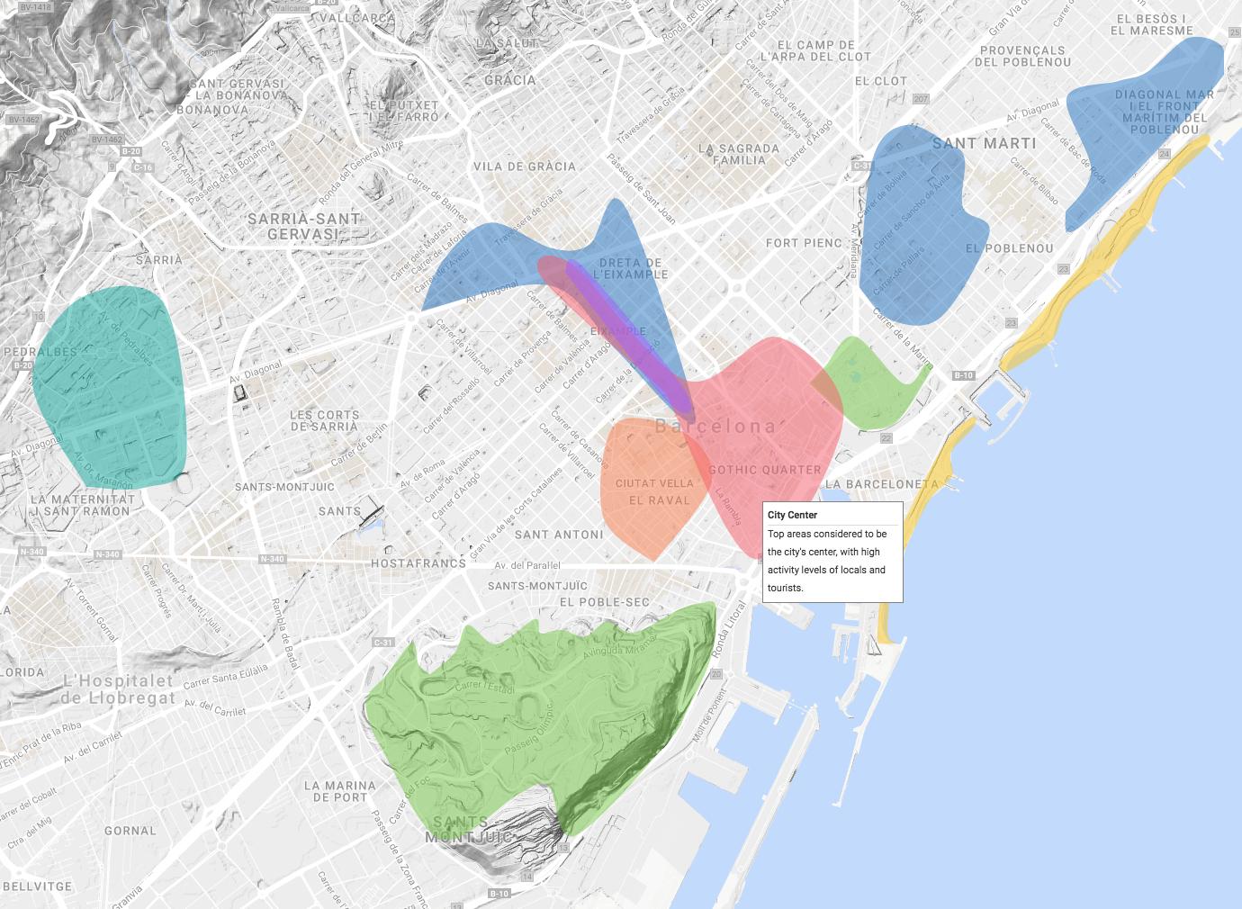 Top Areas - Barcelona - Social Neighborhoods