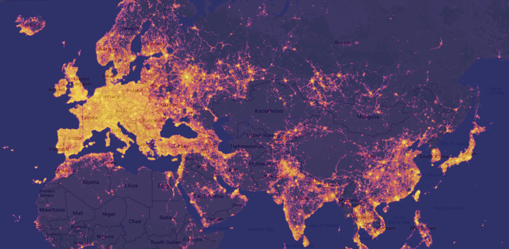 TopPlace heat maps showing the most loved Sightseeing spots worldwide.