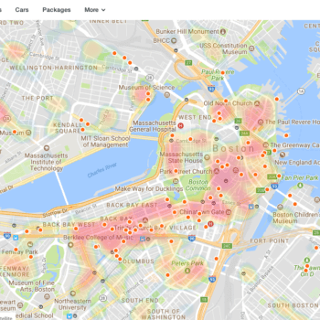 TopPlace™ heat maps on KAYAK