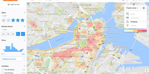 TopPlace™ heat maps on KAYAK