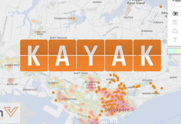 KAYAK heat map by AVUXI