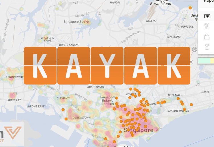 KAYAK heat map by AVUXI