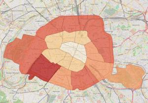 Paris, large city boundaries